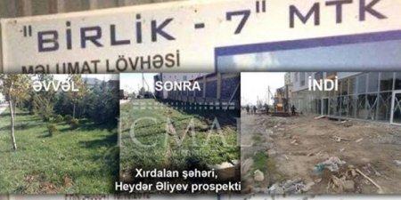 """""""BİRLİK-7"""" MTK Heydər Əliyevə qarşı hörmətsizliyi davam etdirir: Nazir və icra başçısı nədən susur?"""