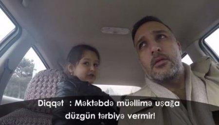 Aparıcı Azər qızına dərs deyən müəllimi RÜSVAY ETDİ - VİDEO