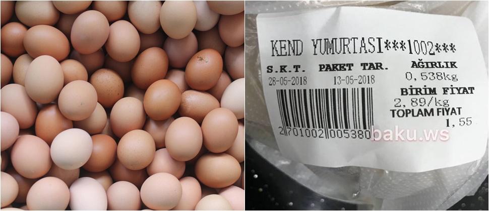 Bakıda yumurtanın çəki ilə satışına başlandı