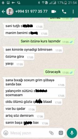 Məmur oğlu jurnalisti ölümlə hədələdi: ''Sənə bıçağı soxub ölənə qədər...'' - AĞSUDA FOTOFAKT
