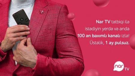 """""""Nar TV"""" tətbiqini yüklə, smartfonda sevdiyin kanallara bax"""