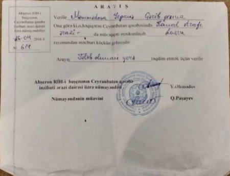 """Abşeron """"VTEK"""" Sahil Babayevə qarşı: """"Əlil gözümü pensiyaya dikmişəm..."""" - Foto"""