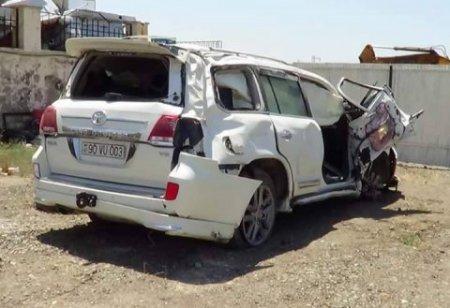 Sahil Babayevin işçisi ağır qəza törətdi - 1 nəfər öldü, özü və 2 nəfər yaralandı (FOTO)