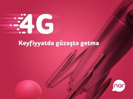 """""""Nar"""" 4G istifadəçilərinin sayı il ərzində 85% artıb"""