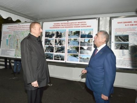 Prezident Tbilisi prospektində görülən işlərlə tanış olub — FOTO