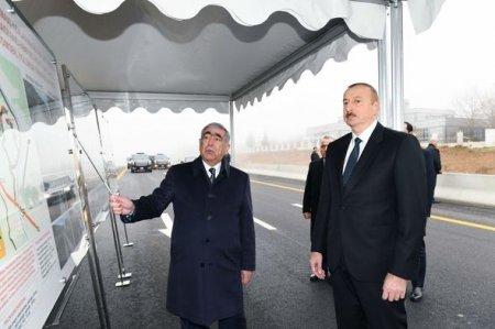 İlham Əliyev Bakı-Şamaxı-Yevlax yolunun 101-117-ci kilometrlik hissəsinin açılışında iştirak edib — FOTO
