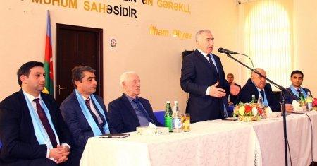 Deputatlığa namizəd Aqil Məmmədov Goranboyda köçkün seçicilərlə görüşüb – FOTOLAR