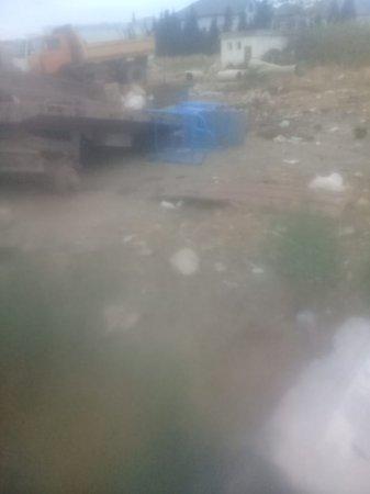 Siyəzəndə H.Əliyev mərkəzi və heykəlinin bərbad vəziyyəti - Video+Foto