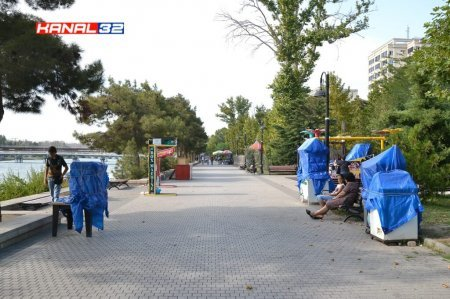 Mingəçevirdə Sahil parkınını bərbad günə qoyanlar kimlərdir? - VİDEO